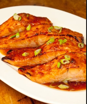 Broiled salmon with orange – miso glaze | Tastetickler